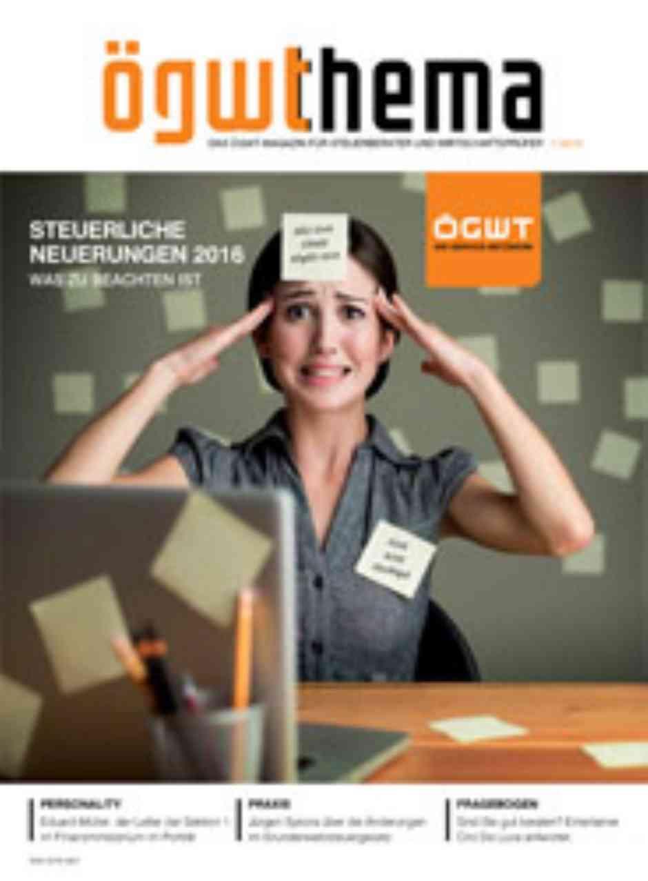 Cover Ausgabe 01/2016