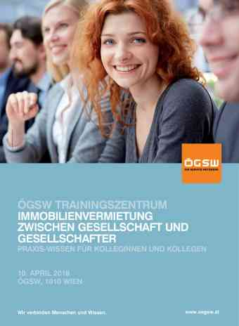 ÖGSW Trainingszentrum 2018