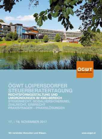 ÖGSW Loipersdorfer Steuerberatertagung