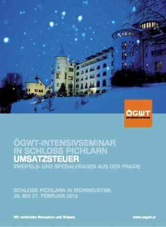 ÖGSW Intensivseminar in Schloss Pichlarn